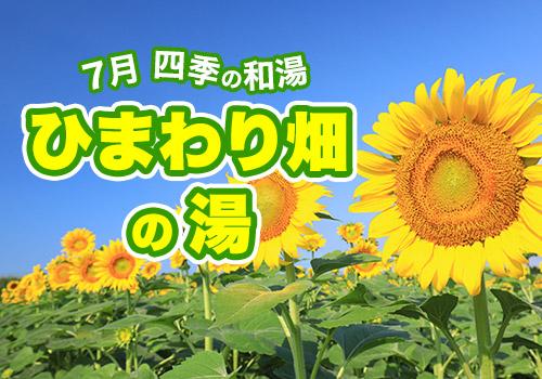 7月 四季の和湯 ひまわり畑の湯